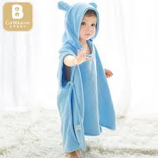Baby bath towel hooded cloak children's bathrobes absorbent hooded ...