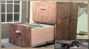 Make a simple 2 Drawer Filing Cabinet - YouTube