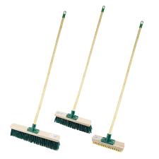 details about yard garden brush 1 2m sweeping floor wooden broom handle stiff bristles outdoor