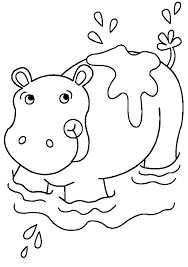 Hippo Coloring Pages Get Coloring Pages