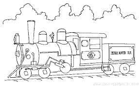 Coloring Pages Trains Thomas Train Coloring Pages Free Printable