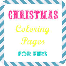 free kids christmas coloring pages