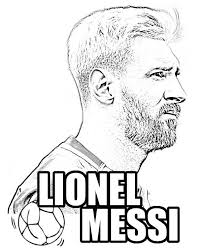 Lionel Messi Coloring Picture Coloring Pages Messi Lionel Messi