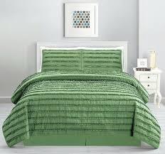 sage green quilt queen cal king solid stripe ruffled 4 set coverlet bedding sets uk sage green