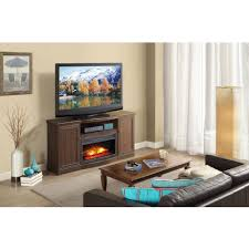 ameriwood home edgewood tv console with fireplace for tvs up to 60 espresso toptrade com