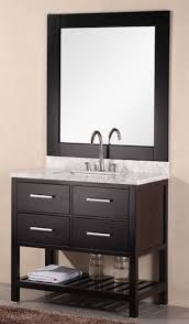 Modern single sink bathroom vanities 36 Inch Dec077a2jpg Home Design Express Kitchenbath Design Element London 36