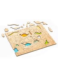 Развивающий деревянный <b>пазл</b> для детей. Модель - <b>Динозавры</b> ...