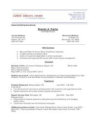 Resume Experience Example Tomyumtumweb Com
