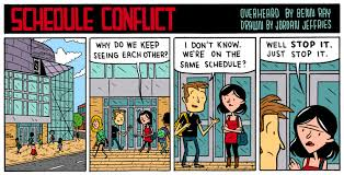 Schedule Conflict Mutant Funnies Said What Schedule Conflict