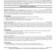 Professional Business Resume Examples 002 Template Ideas Retail Store Company Profile Sample
