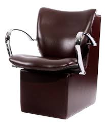 dryer chairs. Dryer Chair With Rounded Chrome Handles PL752e - Espresso Brown Chairs
