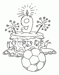 Small Picture Happy 9th Birthday Cake coloring page for kids holiday coloring