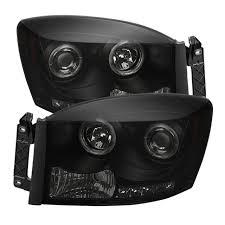 Halo Lights For 2006 Dodge Ram 2006 2008 Dodge Ram 1500 2006 2009 Ram 2500 3500 Led Halo Projector Headlights Black Smoke