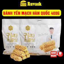 Bánh Yến Mạch Hàn Quốc 400g - Bánh Yến Mạch Ăn Kiêng Bánh Kẹo Đồ Ăn Vặt Nội  Địa Hàn Quốc - Quà Tết 2021 giá cạnh tranh