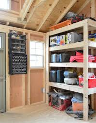 1 simple shed shelving solutions that work like a charm