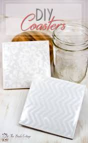 the birch cottage shares how to make coasters from ceramic tiles mod podge felt