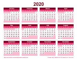 Photoshop Calendar Template 2020 2020 Calendar Png Transparent Images Png All