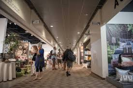 Exhibitor hallway in Building C at Las Vegas Market at World Market Center  on Tuesday,