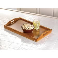 rectangular tray for eating breakfast in bed bamboo serving tray