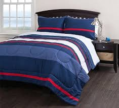 blue and red comforter sets within boys striped queen set piece bedding ideas architecture