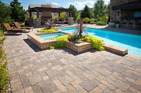 patio designs with pavers. Paver Swimming Pool Deck, Raised Spa Patio American Design \u0026 Landscape Parker, Designs With Pavers