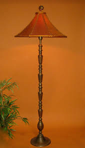 oriental lamp shade sold vintage asian floor handmade orange
