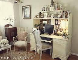 vintage style shabby chic office design. shabby chic vintage style office space with hutch desk and chairs studio design e