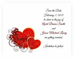 Red Save The Date Cards Details About 100 Personalized Custom Red Burgundy Hearts Bridal Wedding Save The Date Cards