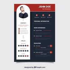 Award Winning Modern Resume Templates Free Download Modern Dark Resume Template Vector Free Download