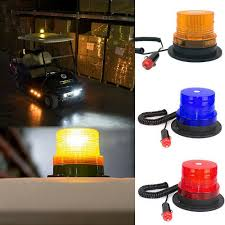 Small Rotating Beacon Light Vehicle Rooftop Emergency Rotating Beacon Magnetic Mount Led Strobe Light Amber