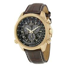 citizen bl5403 03x men s perpetual calendar chronograph brown leather brown dial