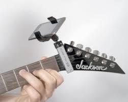 guitar smartphone holder
