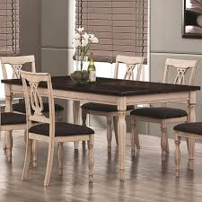 collection in antique white dining table set country dining table set black and cherry 6 piece counter height