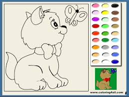Small Picture Kitten Coloring Pages For Kids Kitten Coloring Pages YouTube
