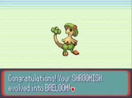 Shroomish Evolution Chart Pokemon Shroomish Evolves In Pokemon Sapphire Youtube