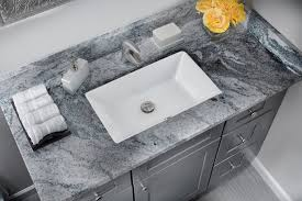 Small Rectangular Undermount Bath Sink Porcelain Bathroom Basin