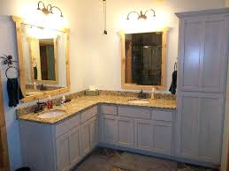 standing corner bathroom cabis vanity with two