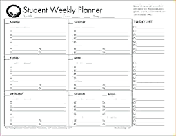 Student Agenda Template – Findspeed