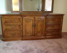 thomasville bedroom furniture 1980s. thomasville dressers french dresser u0026 triple mirror walnut mid bedroom furniture 1980s m