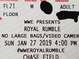 Wwe Royal Rumble Seating Chart Chase Field Www