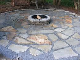 diy stone patio make a flagstone