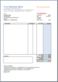 Excel Invoice Template Invoice Template Gallery