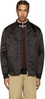acne studios black mylon er jacket men acne studios leather jacket on