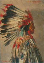portrait of chief blue horse sioux