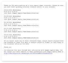 Email Reminder Volgistics Help Schedule Reminders