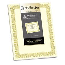 Geographics Geo39087 Gold Seal Parchment Certificates 25 Pack