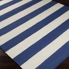 handwoven royalstripe blue corn wool area rug 5u0027 blue striped rug n76