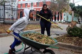 Image result for images of fall clean up with kids