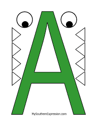 Letter A Template Letter Of The Week For Preschool Aged Children Letter A For