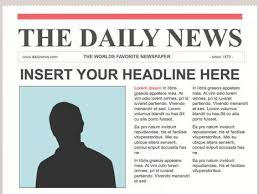 Custom Newspaper Template Editable Powerpoint Newspapers